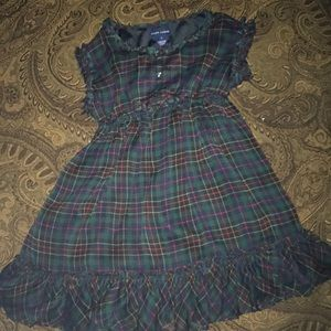 Girls Ralph Lauren plaid dress sz 5